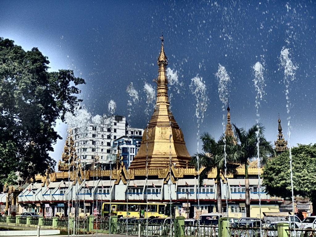 tourist attractions Sule Pagoda, Yangon myanmar what to see in yangon myanmar travel blog