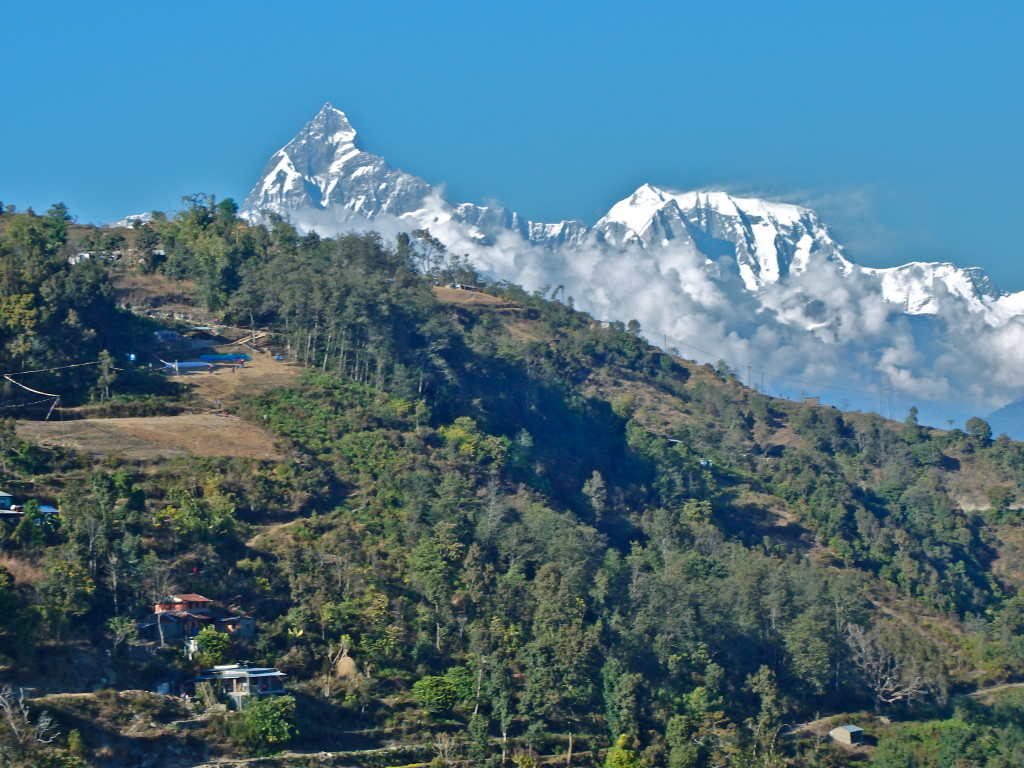view of Annapurna Range from Pokhara, Nepal travel blog hiking out of pokhara nepal day hikes in pokhara