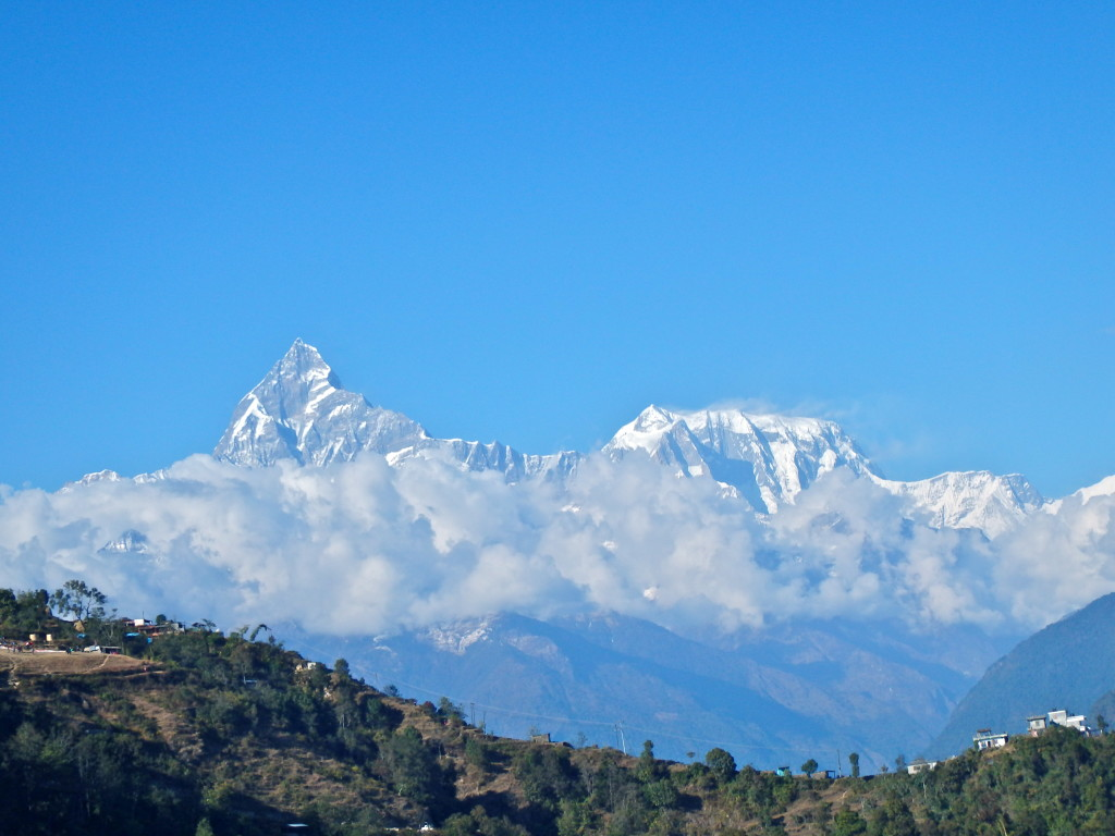 view of Annapurna Range from Pokhara, Nepal, paragliding in pokhara for views of the himalayas best travel blogs from nepal travel stories from pokhara where to go on vacation in nepal
