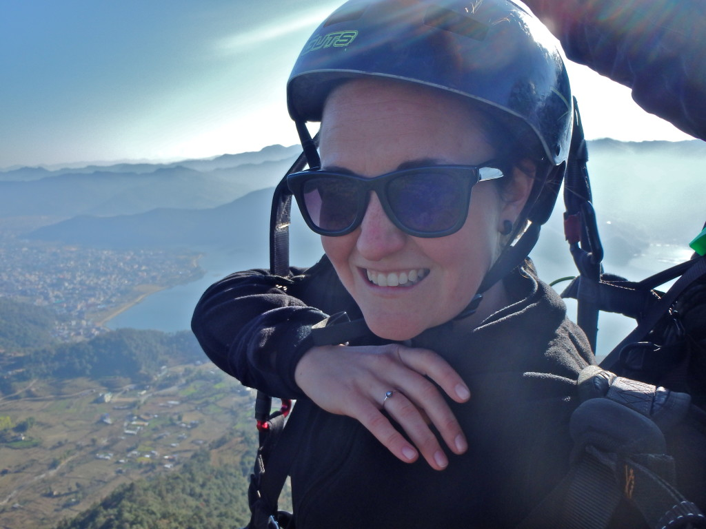 Paragliding Selfie! Pokhara, Nepal what to see in pokhara nepal what is the best things to do in nepal what is there to do in nepal