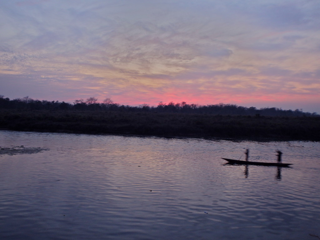 Sunset over Chitwan national forest best places to visit in nepal where to go in 10 days in nepal travel blogs for solo female