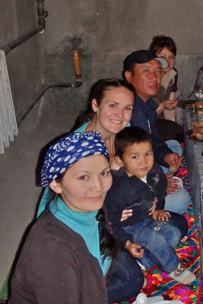 Kyrgyzstan village family dinner