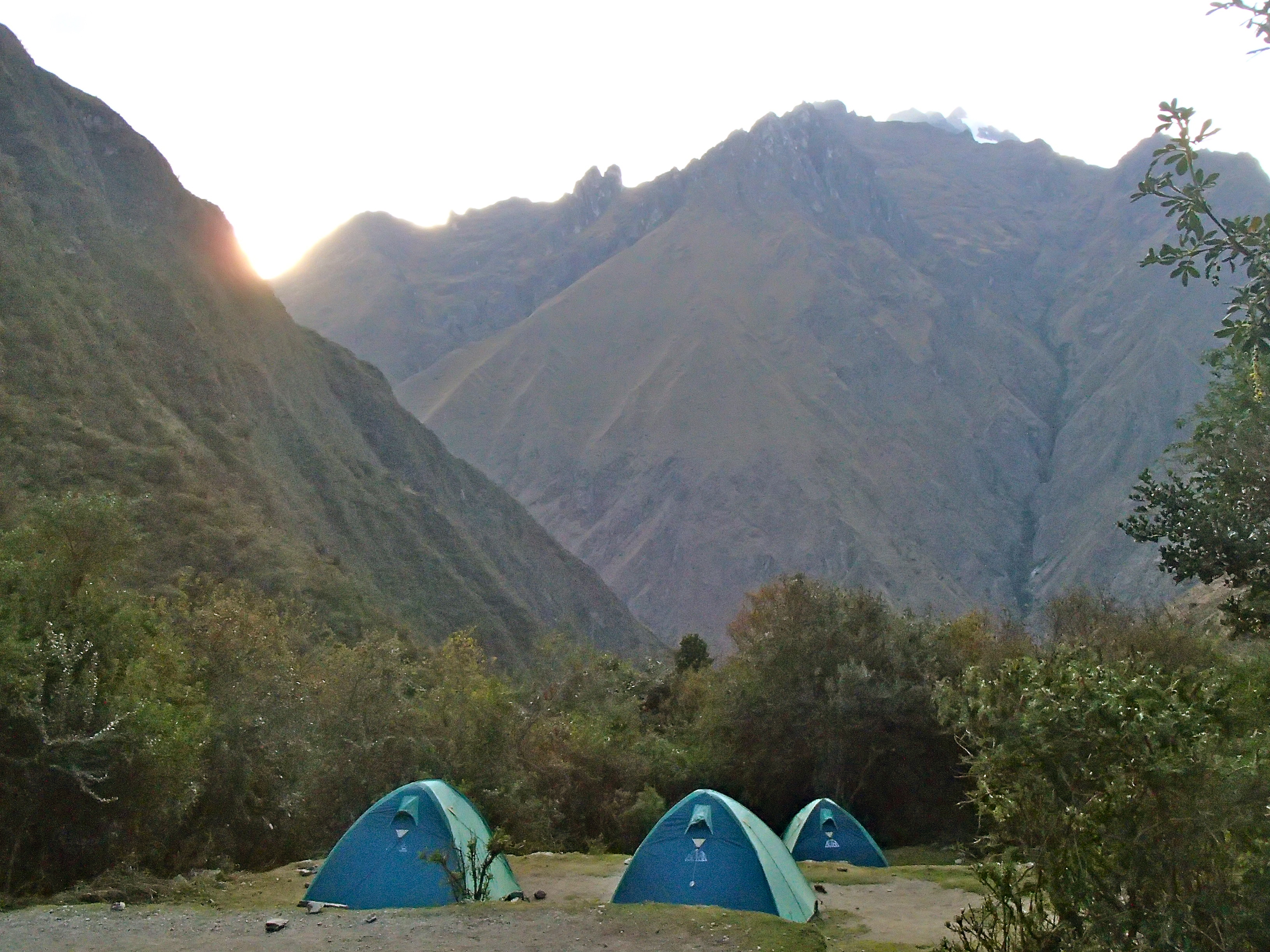 campsite on the inca trail peru where do you sleep on the inca trail