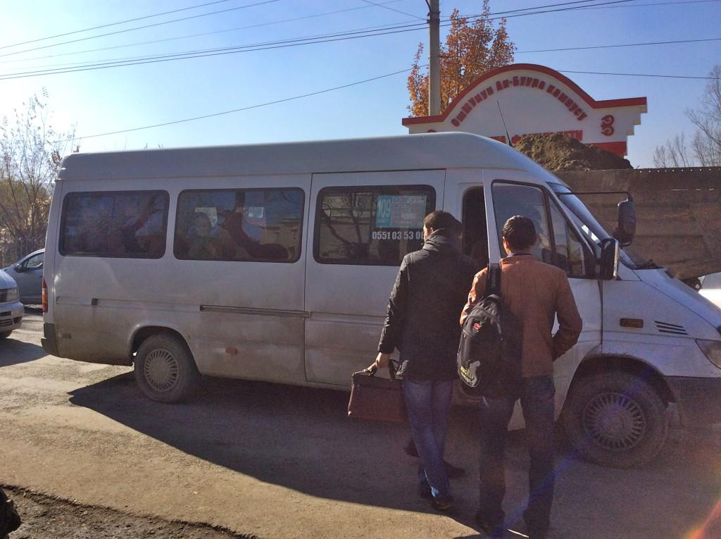 Kyrgyz marshrutka, travel in Osh Kyrgyzstan, transportation in Kyrgyzstan