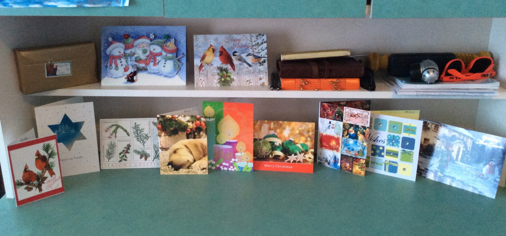 Christmas cards from all over!!!