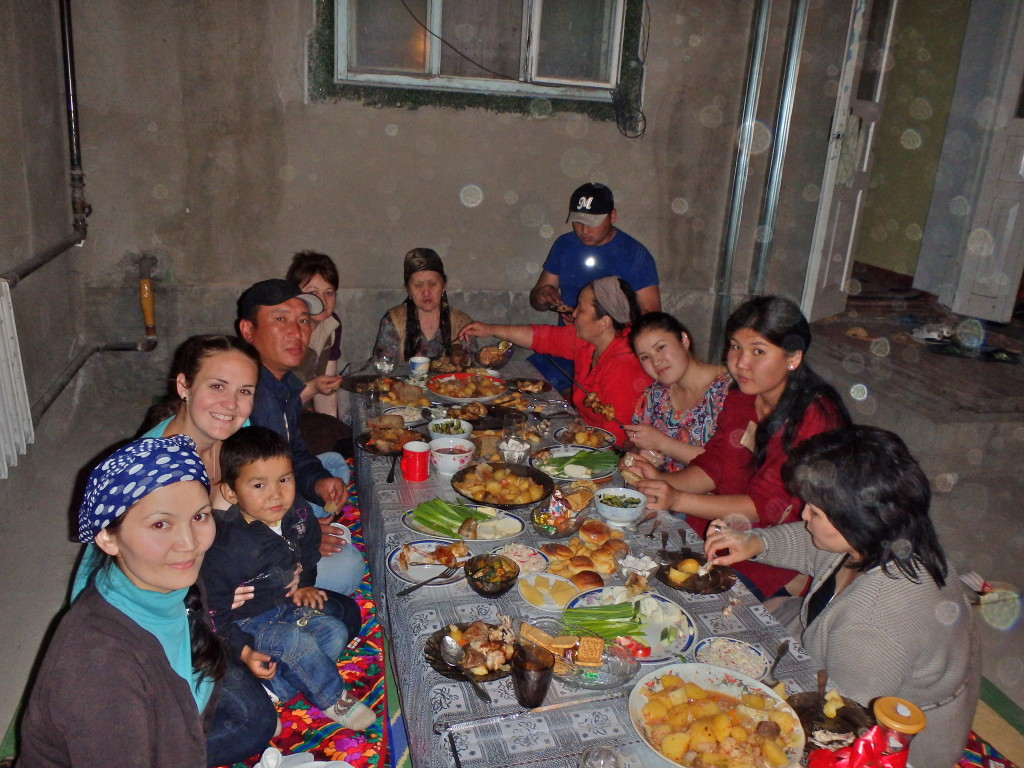 Kyrgyz women in Kyrgyzstan, Central Asian culture