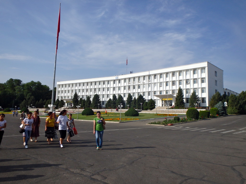 Osh administration building, 'The White House', Osh, Kyrgyzstan travel blog