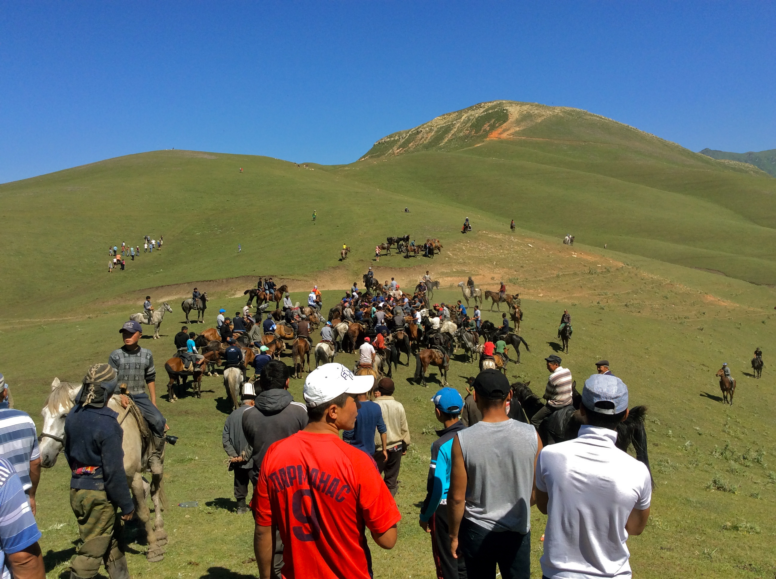 Kyrgyzstan culture with horse games, nomadic traditions