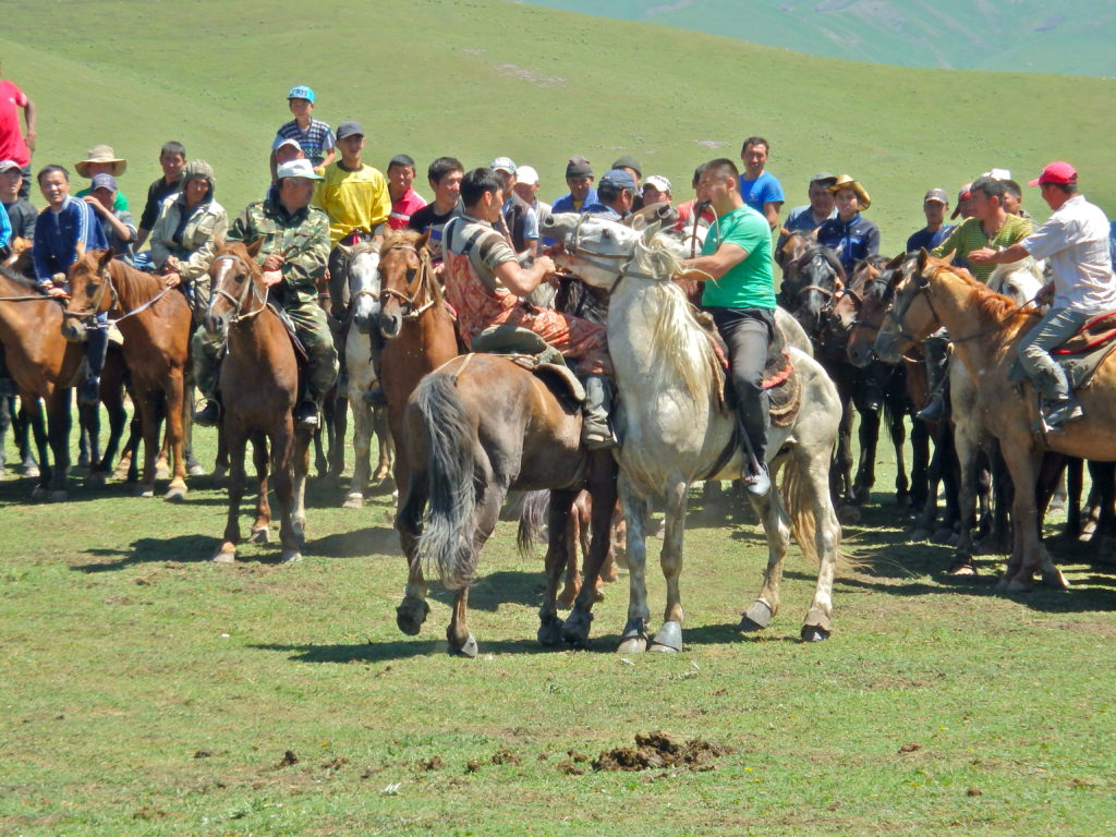 Kyrgyzstan horse games culture- Horse wrestling