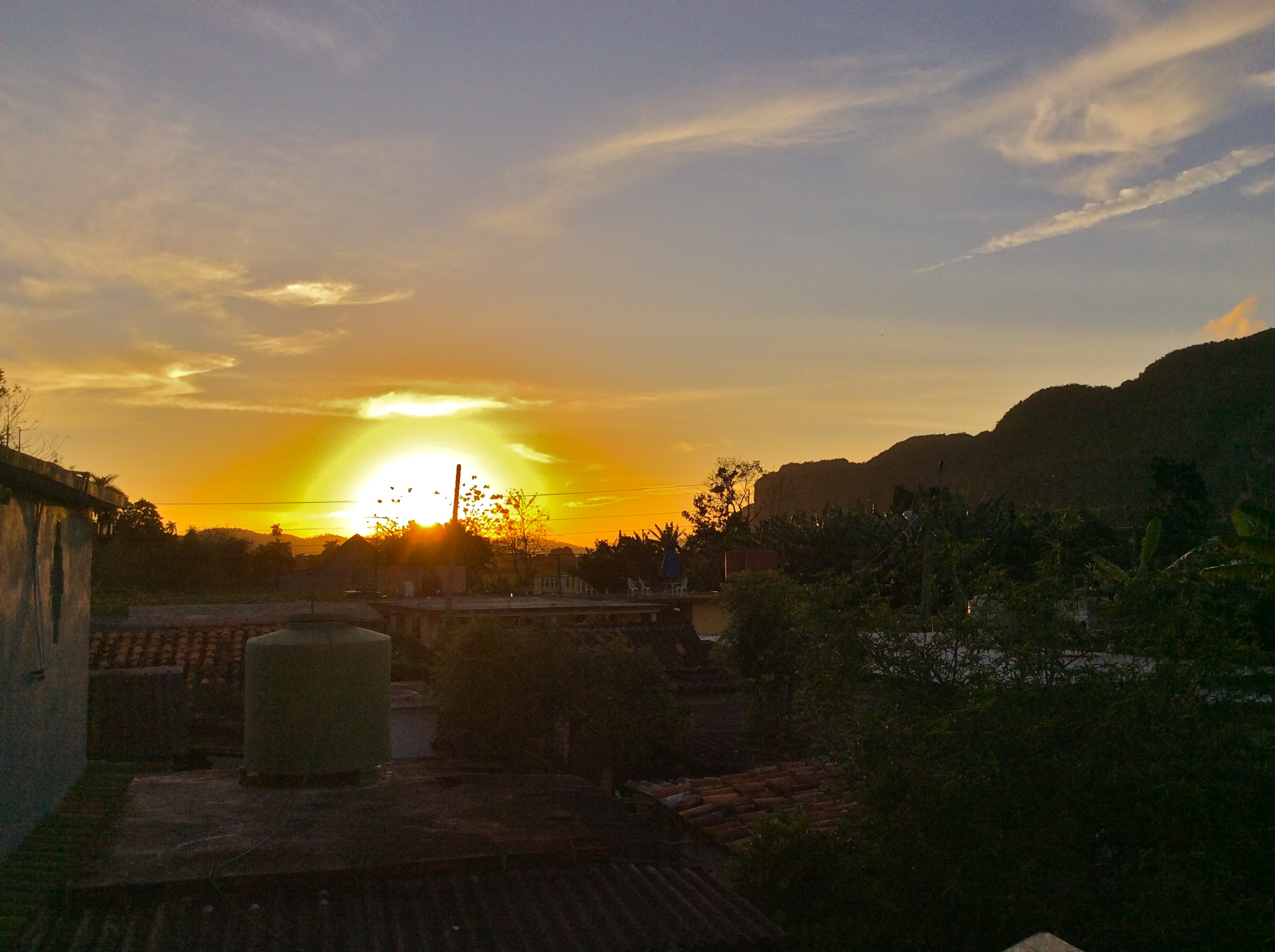 Sunset from my rooftop in Vinales valley places to visit near vinales cuba top attractions in vinales valley cuba