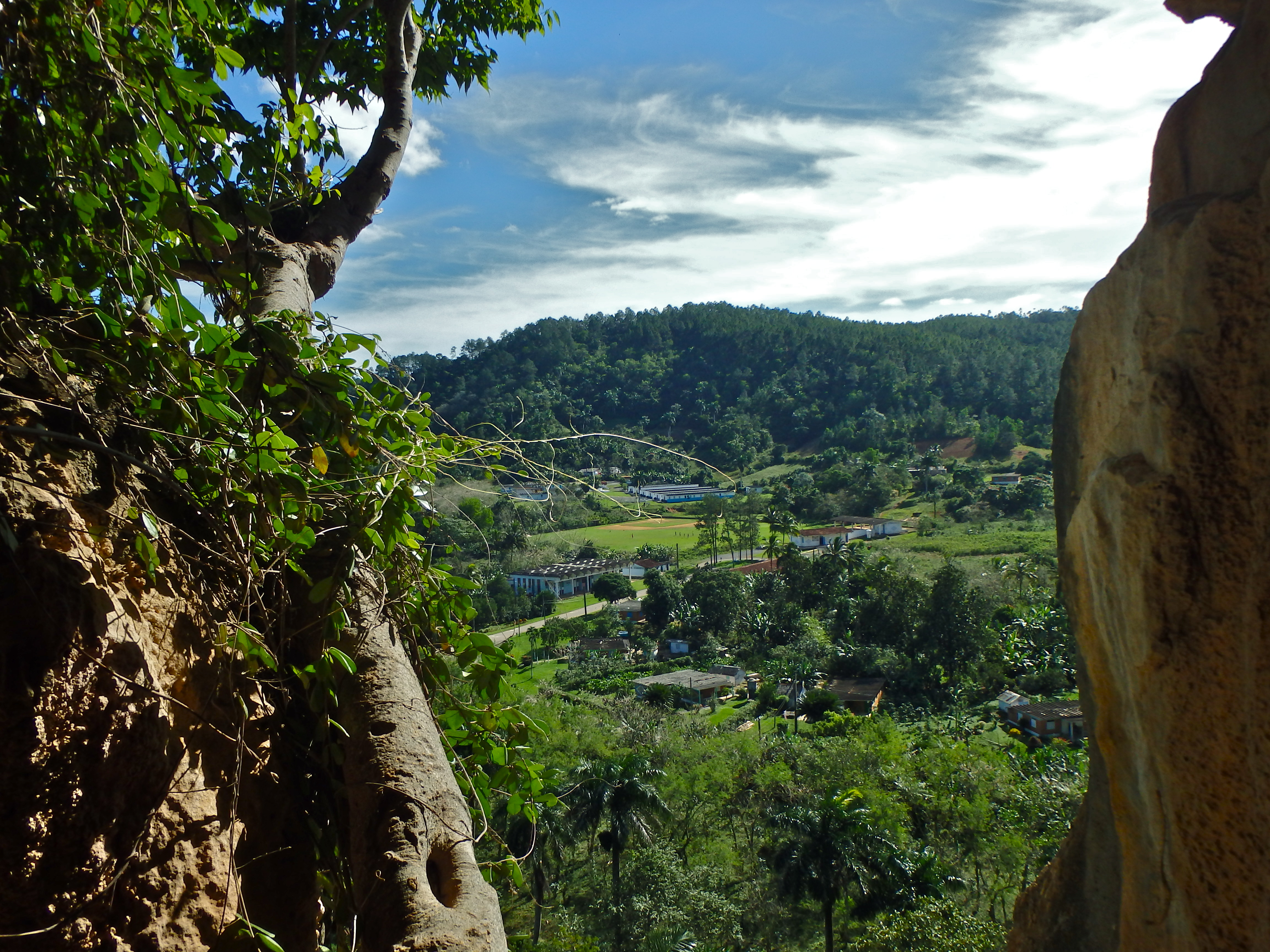 View from a hole in the St. Tomas Cave points of interest near vinales cuba travel blog for solo females
