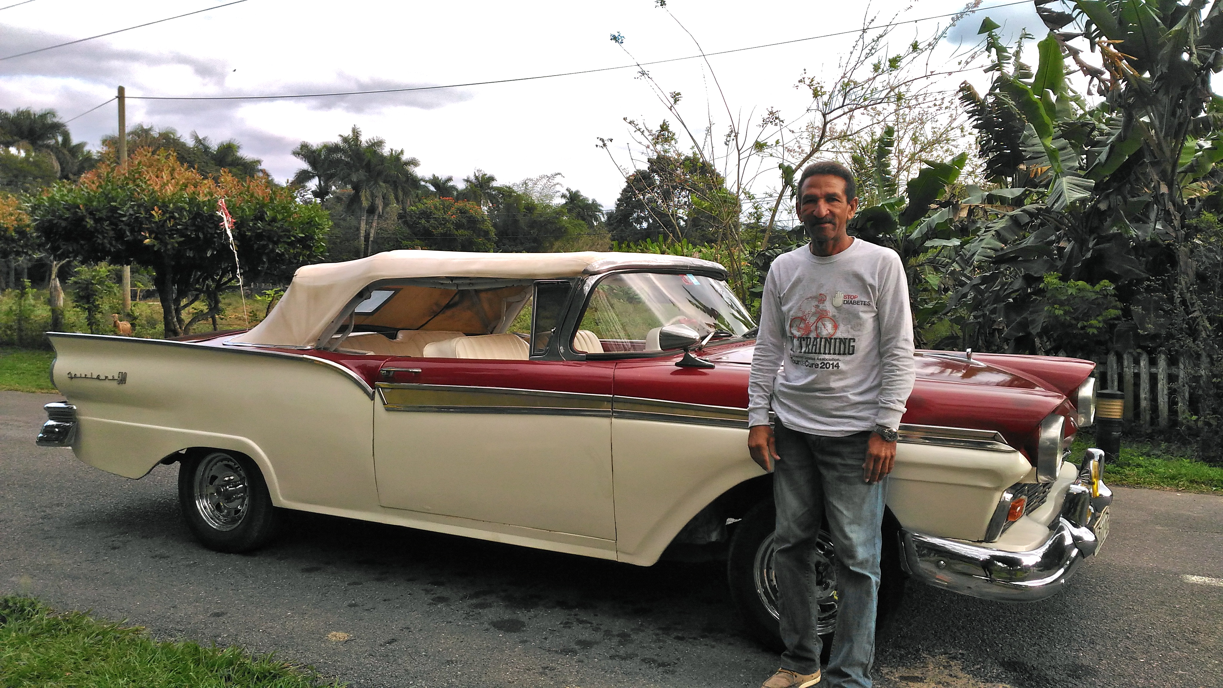 My driver and his Tourlaine! day trips from vinales cuba htings to see around vinales cuba st. tomas cave near vinales cuba travel blog