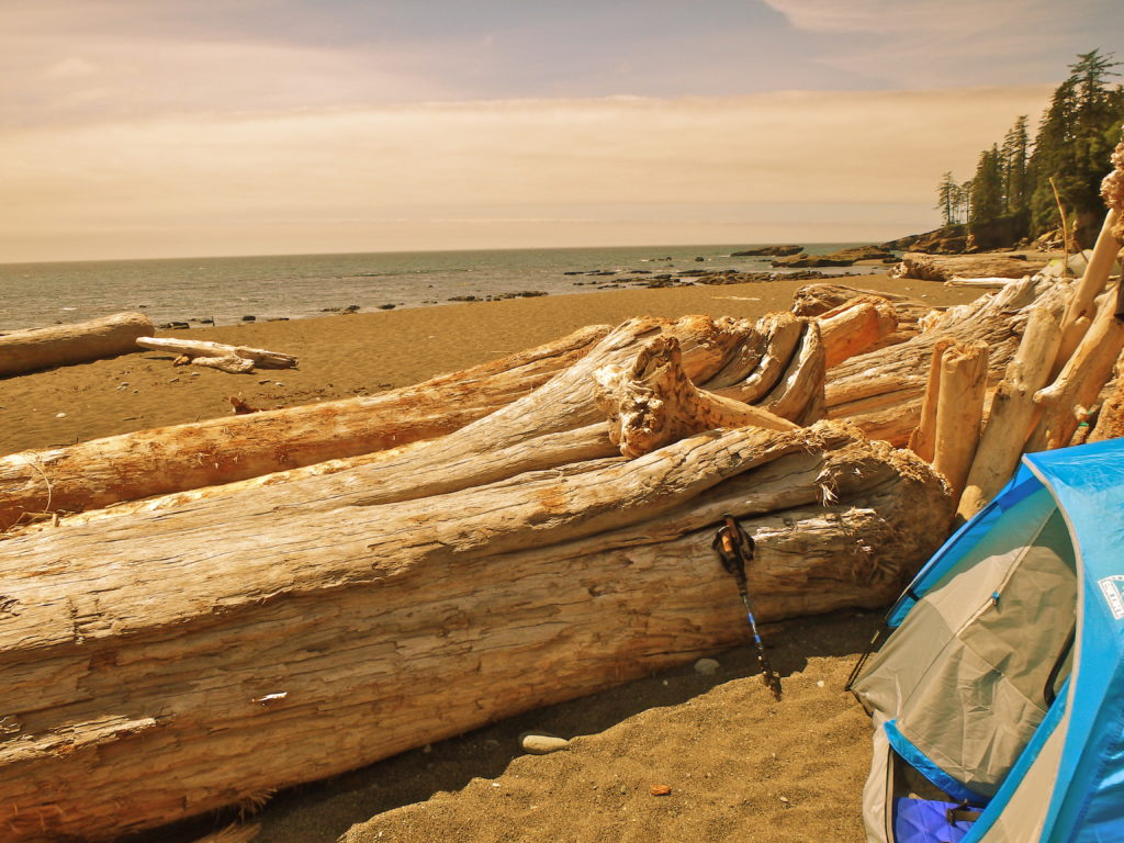west coast trail campsites tsusiat falls where do you camp on the west coast trail