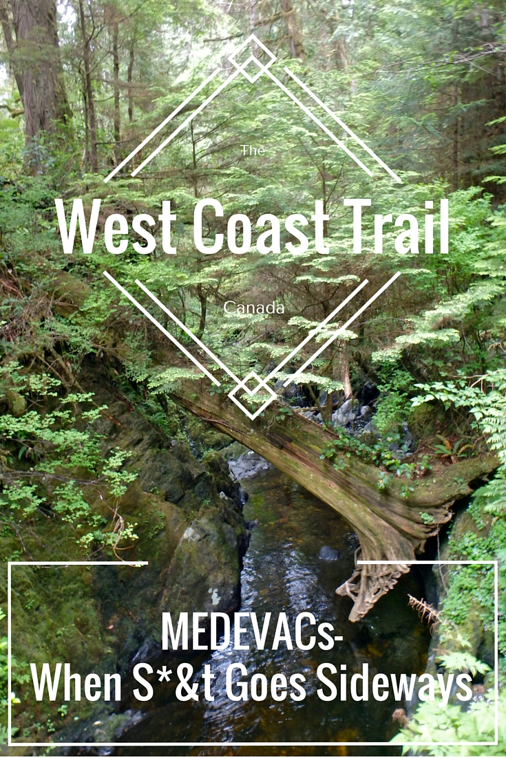 West Coast Trail difficulty, West Coast Trail injuries, British Columbia, Canada