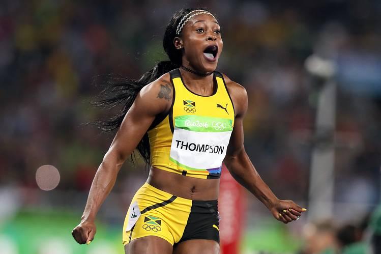 Jamaican Track star Elaine Thompson