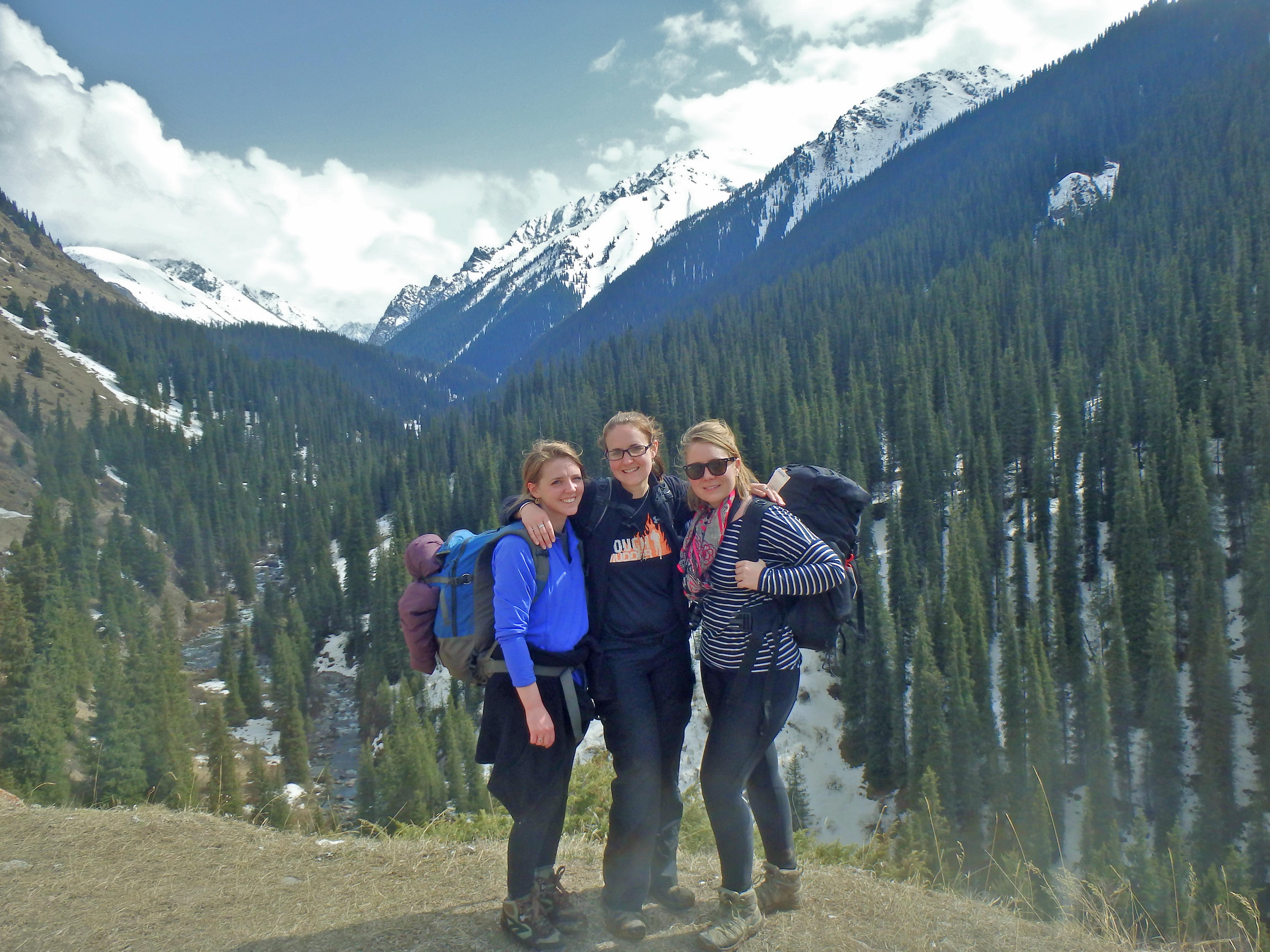 trekking to hot springs in Karakol Kyrgyzstan, best hikes in Kyrgyzstan