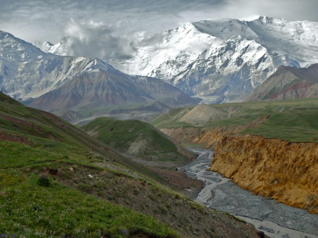 Pamir Mountain Range, Peak Lenin, Kyrgyzstan