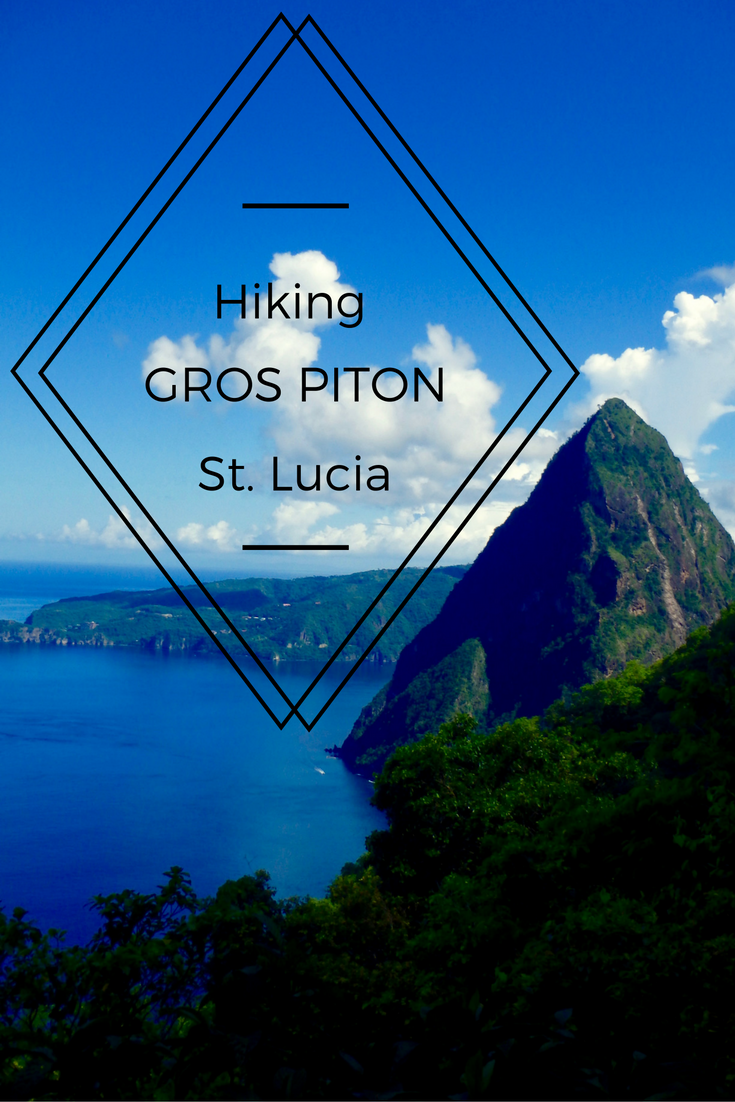 Hiking the Gros Piton in Soufriers St. Lucia is a top adventure experience in the Caribbean. The St. Lucian scenery is perfect from the 2600ft peak!