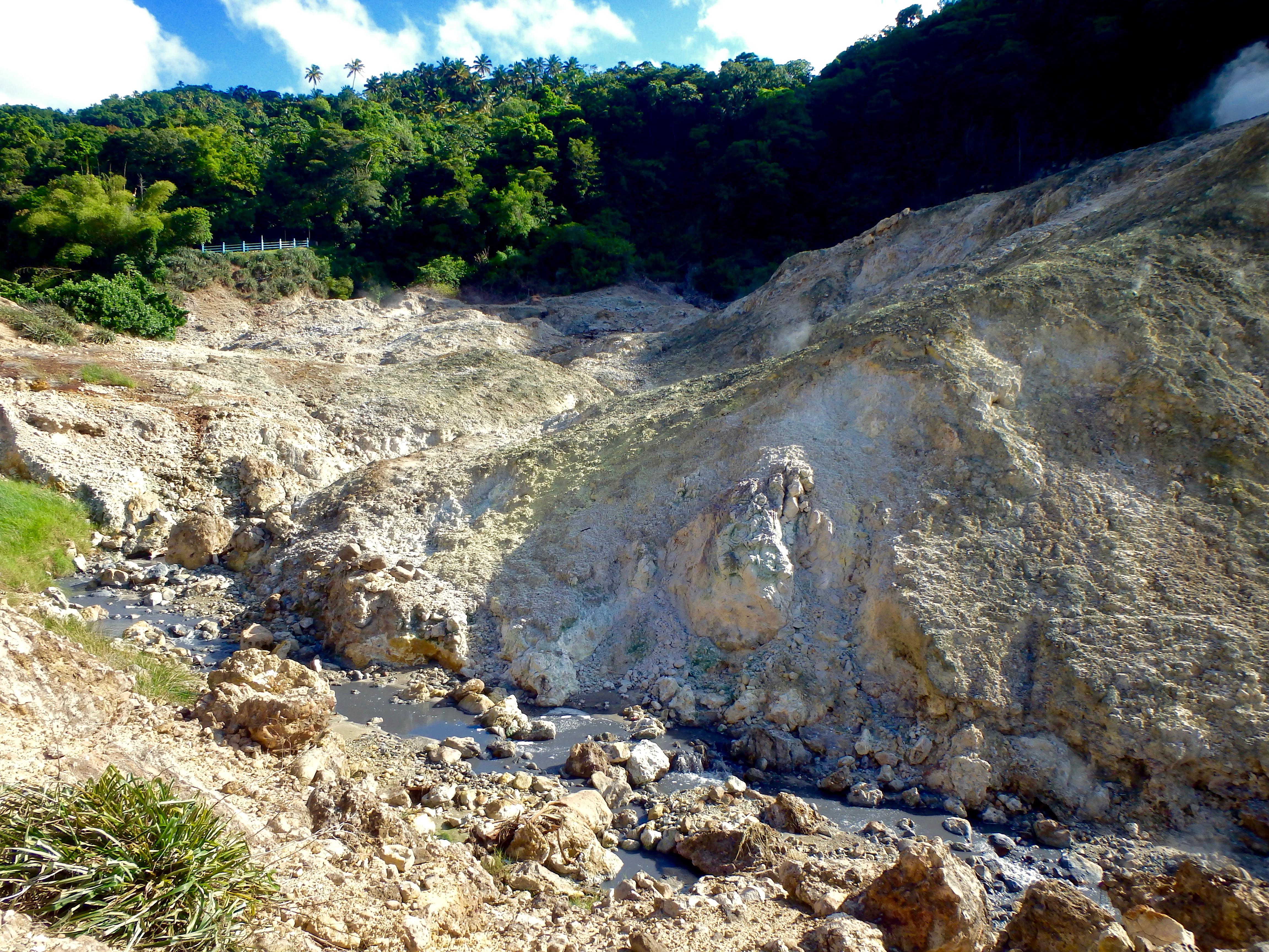 geothermal volcano St. Lucia Sulphur Springs