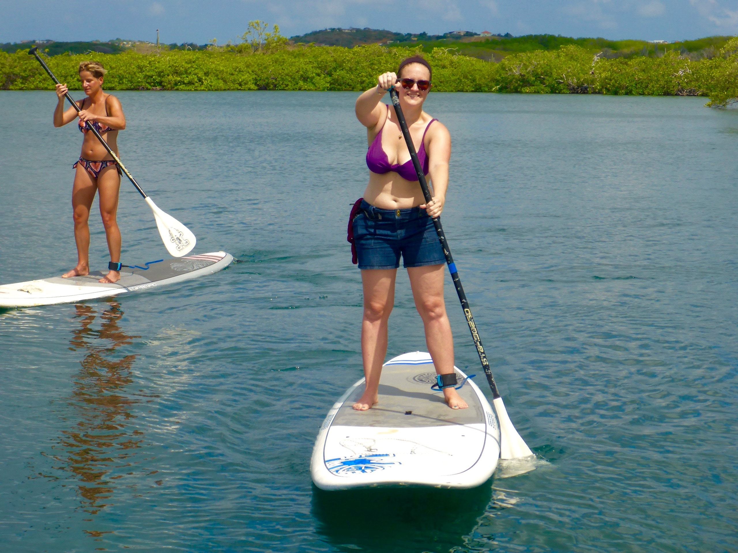 first time paddleboarding in curacao spanish watters
