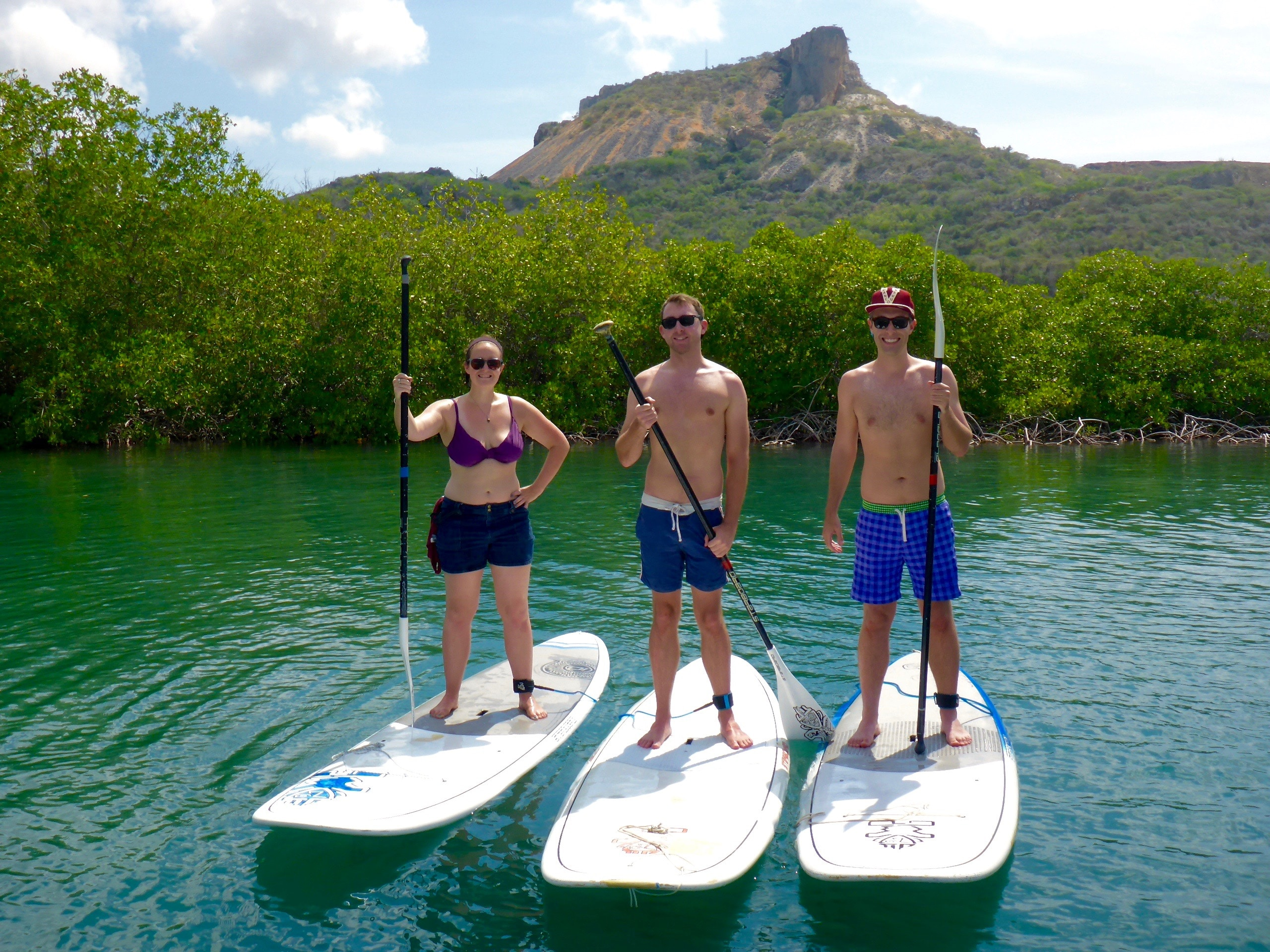 Table mountain curacao paddle boarding SUP