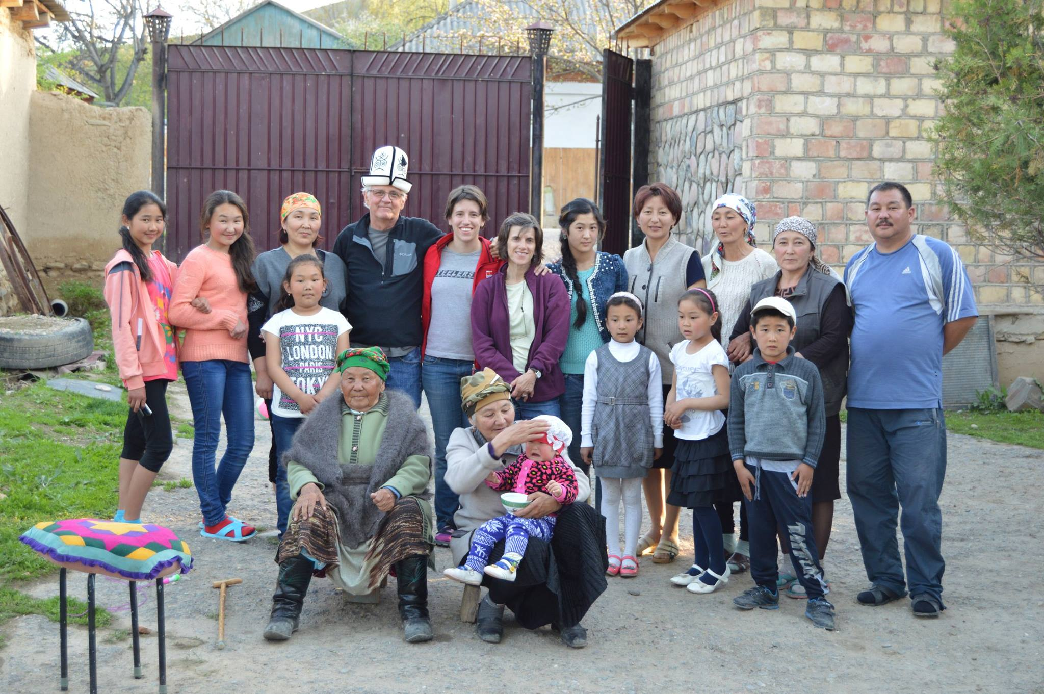 Emma's family in Toktogul