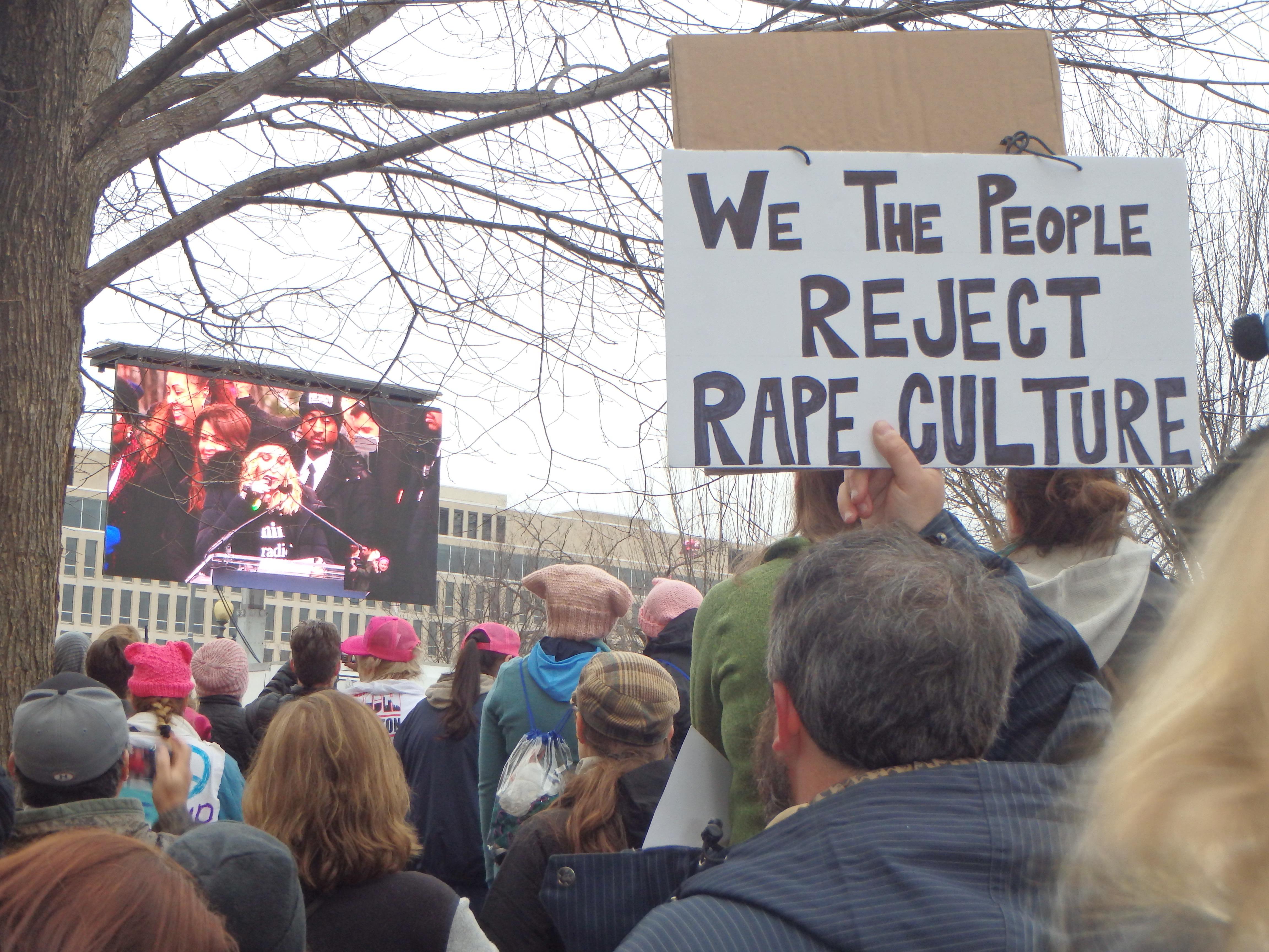 Madonna at Washington DC Womens march experience travel blog