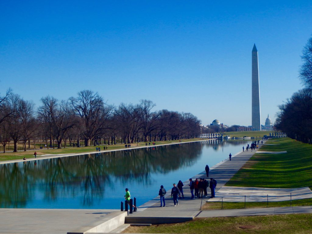 washington D.C. national mall view from Lincoln memorial travel blog