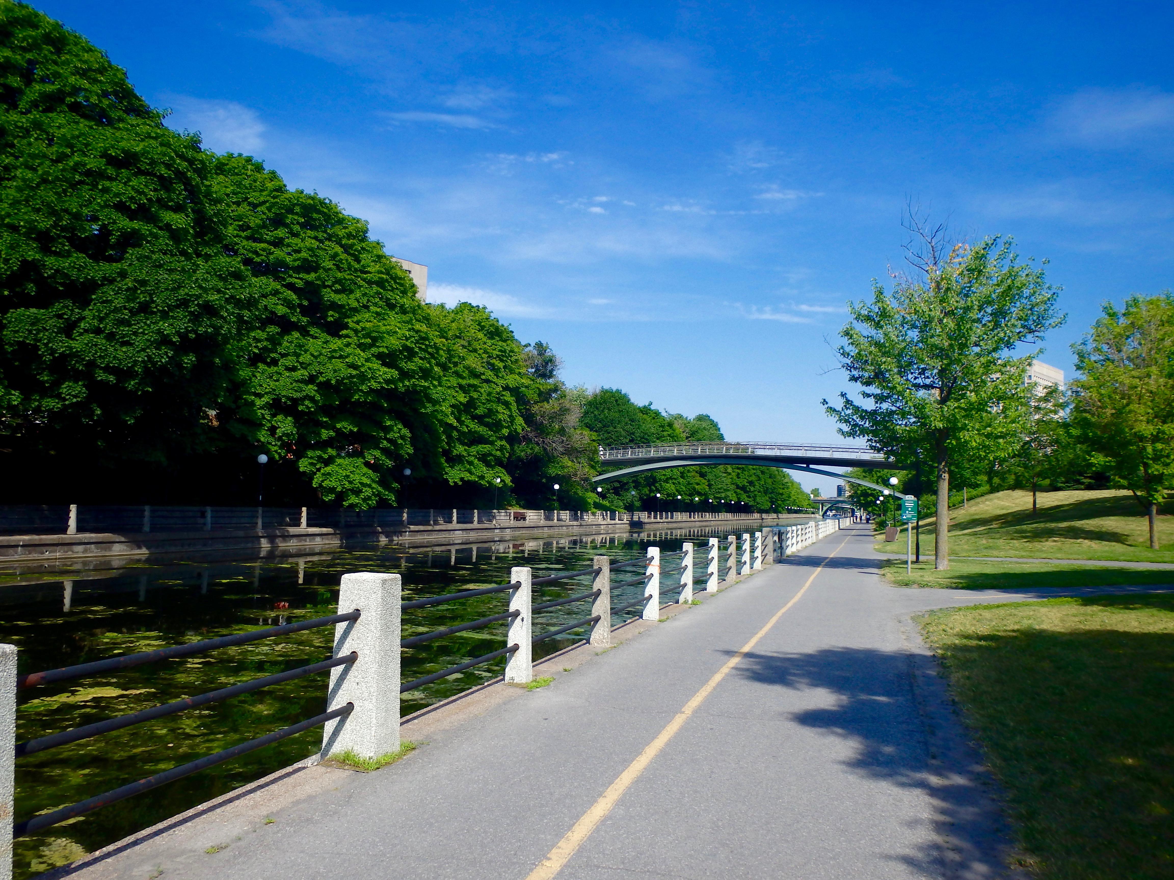 biking along the rideau canal ottawa
