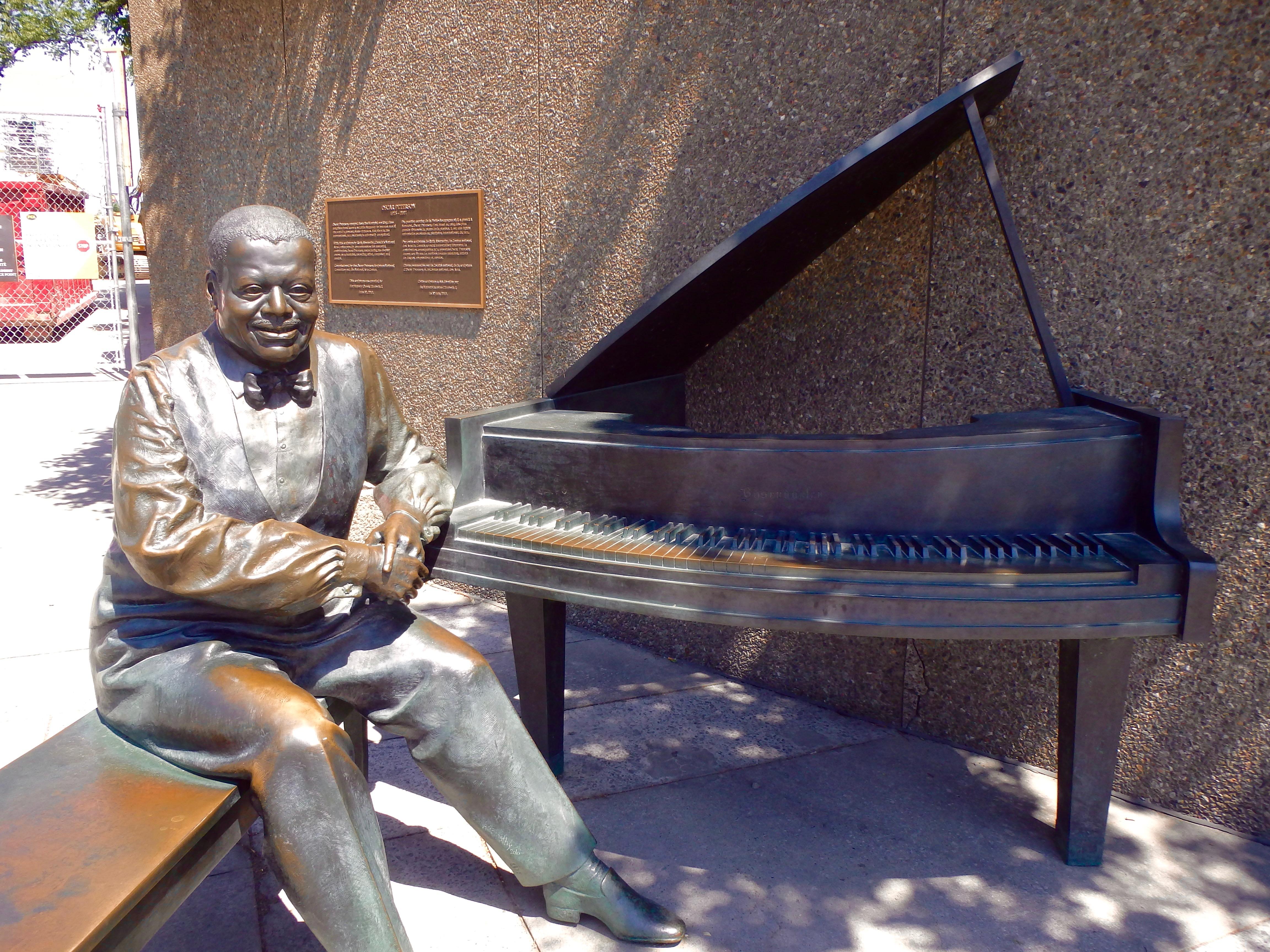 piano man statue ottawa oscar peterson public art in ottawa