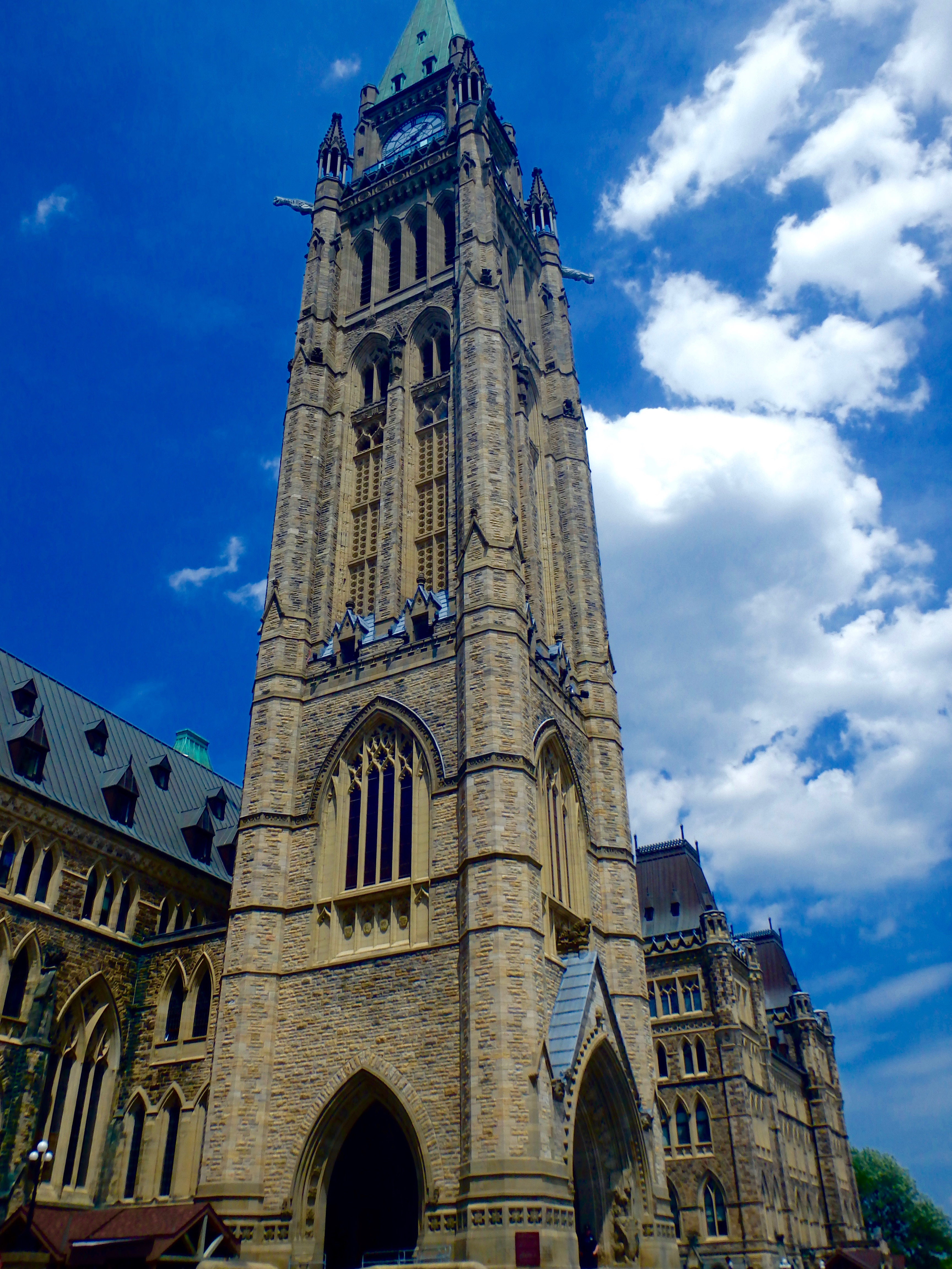 Peace Tower parliament hill ottawa Canada city walking tour