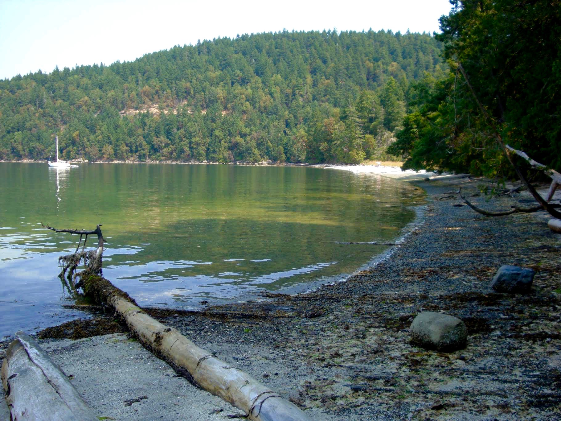 midden at Montague Harbour Galiano island
