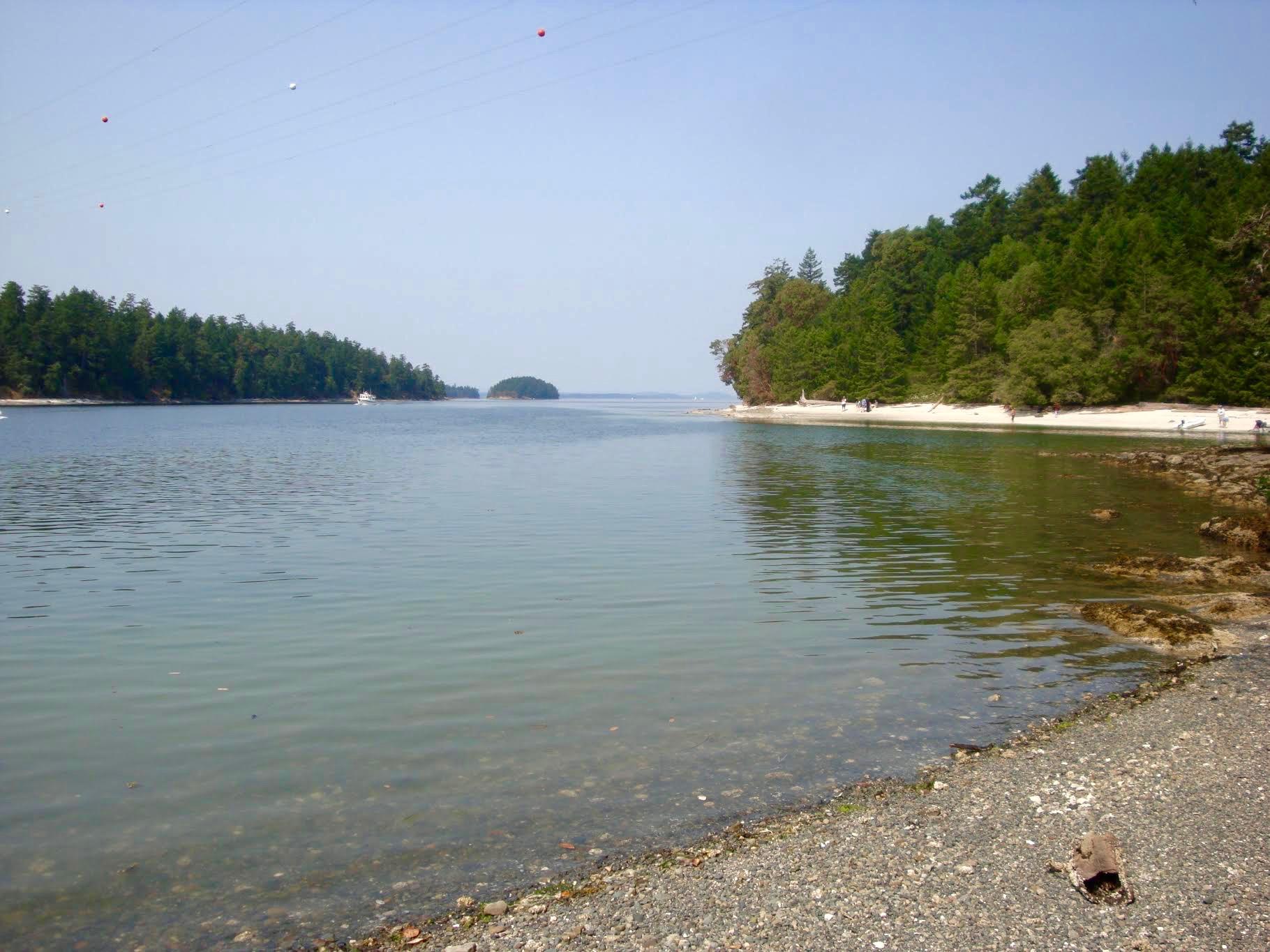 Galiano island beaches where to swim on Galiano island camping travel blog