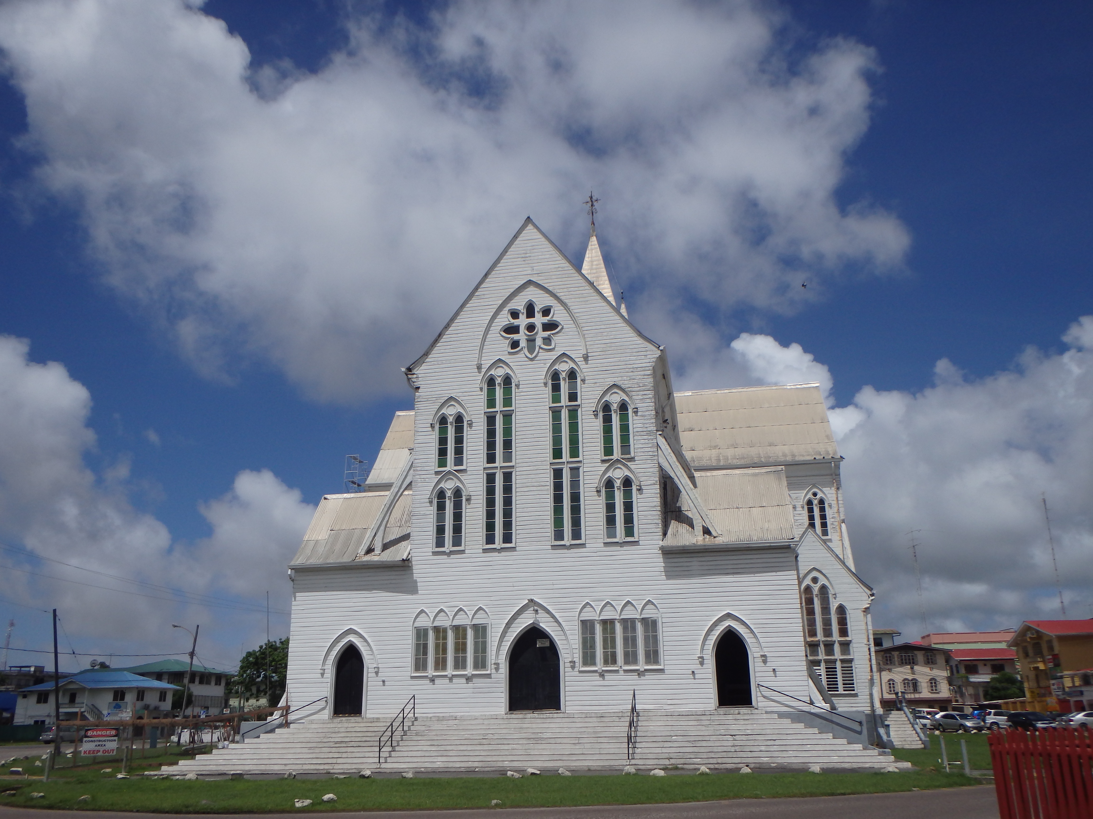 St. George's Cathedral in Georgetown Guyana tallest wooden church in world best tourist attraction guyana