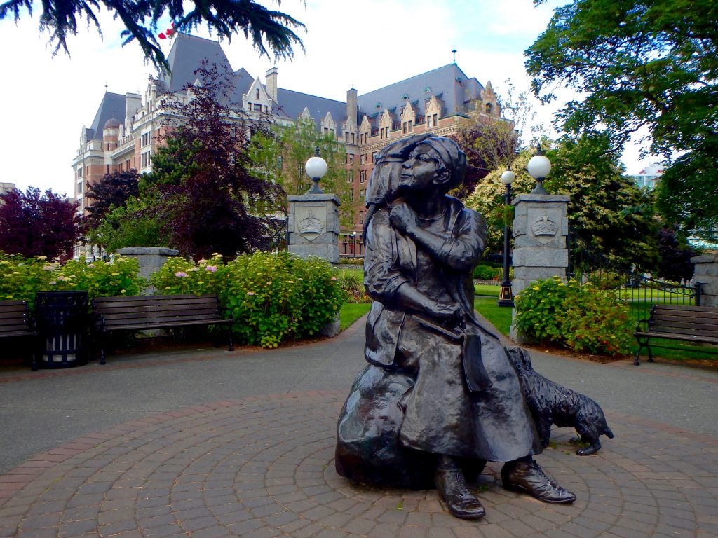 Emily Carr Statue in Victoria BC Empress hotel things to see in Victoria BC