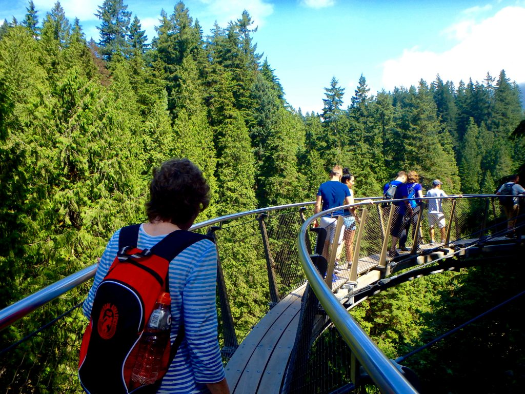 Cliffwalk in Capilano Suspension Bridge Park thrilling sights in Vancouver BC