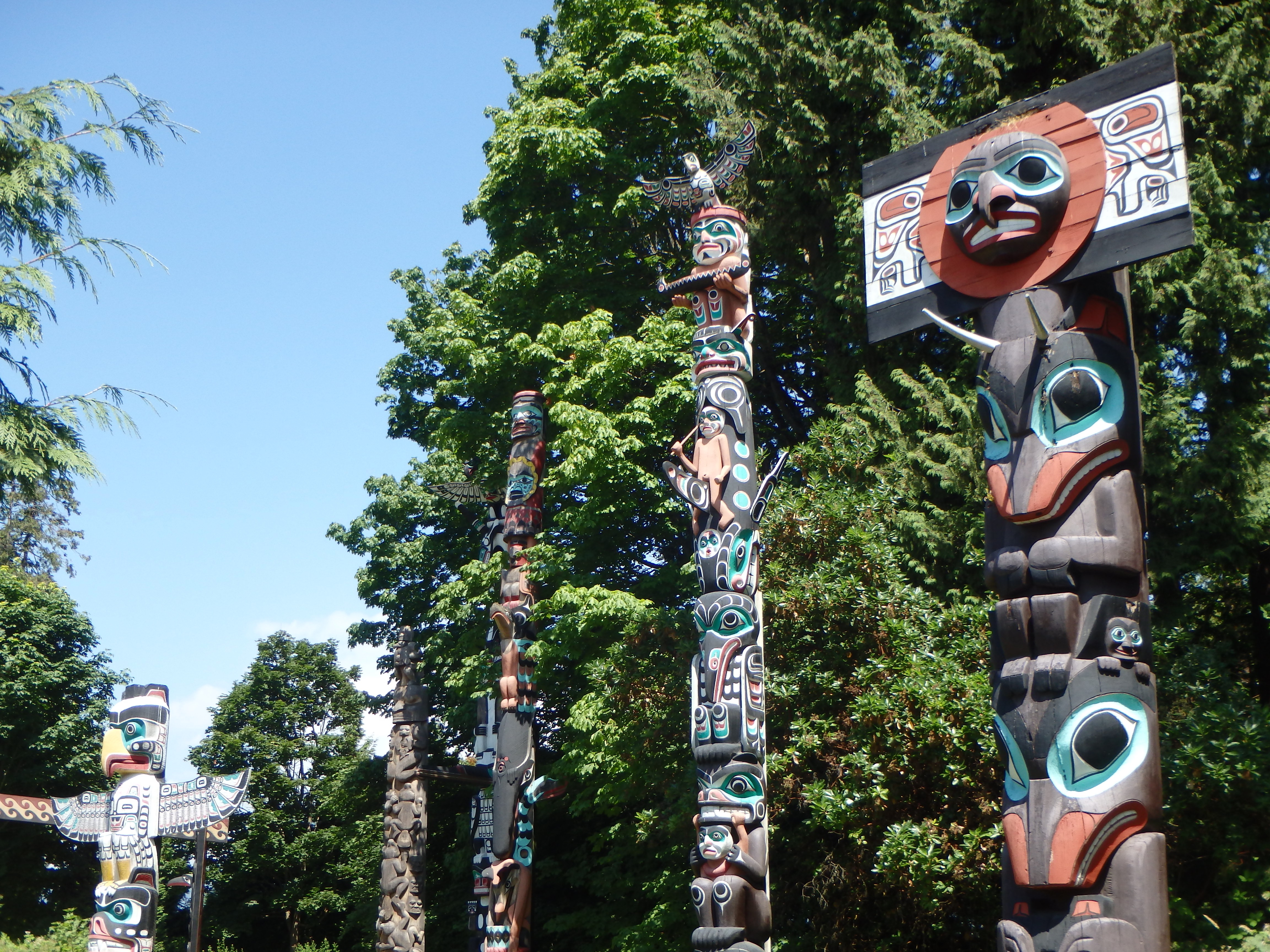best places to see totems in Vancouver Stanley park attractions