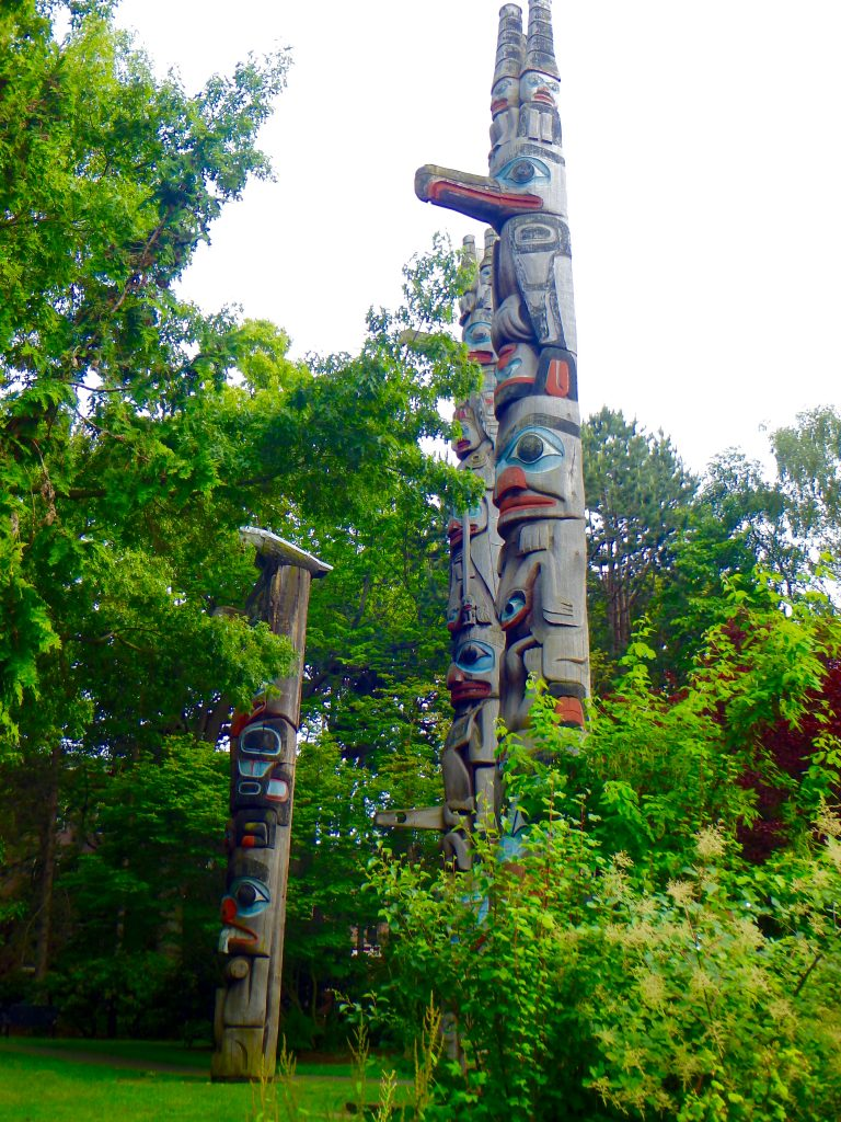 Aboriginal Totems in the Royal BC Museum's Thunderbird Park, Victoria, BC