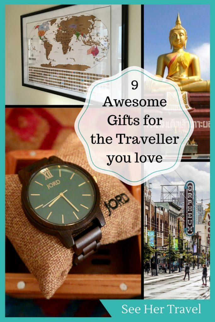 Everyone loves gifts, even us travellers! Here are 9 gift ideas for the traveller in your life, from travel gear, to memories, to ways to stay in touch!