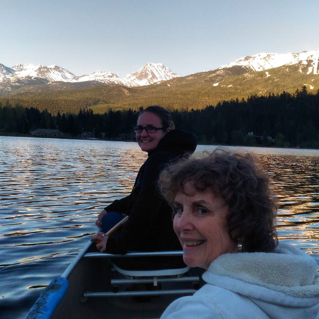 Canoeing on the river of golden dreams in whistler canoe rentals