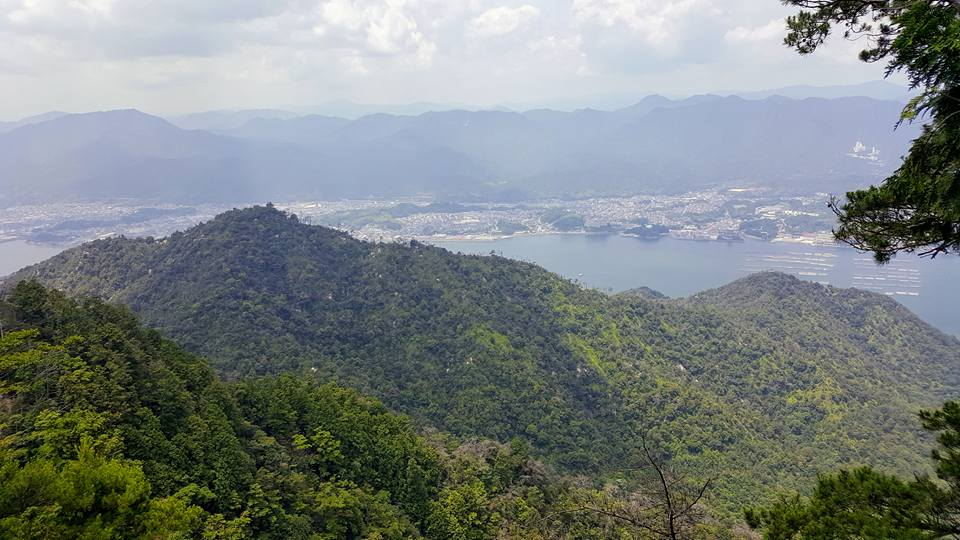 Overlooking Miyajima Island japan