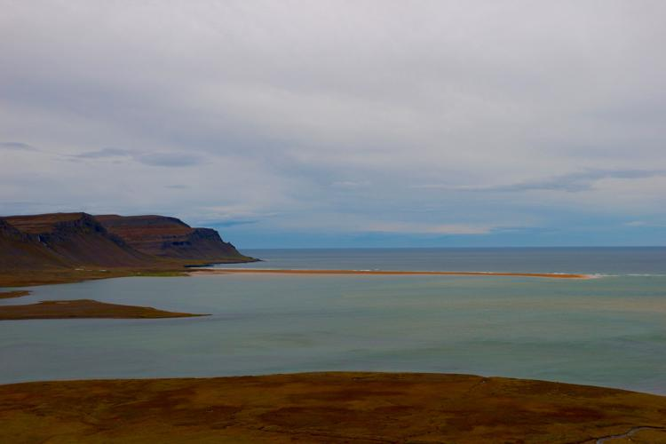 Raudasandur Pink Beach westfjords iceland