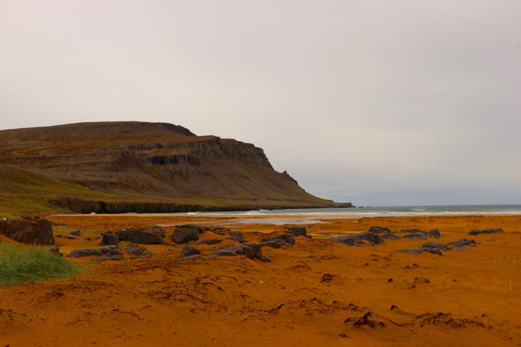 Raudasandur Pink Beach westfjords iceland westfjords points of interest