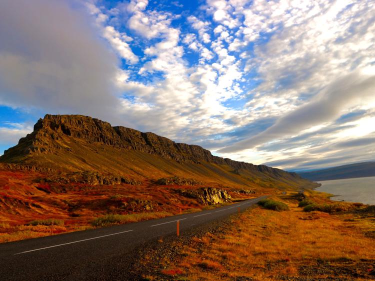 driving in the westfjords iceland