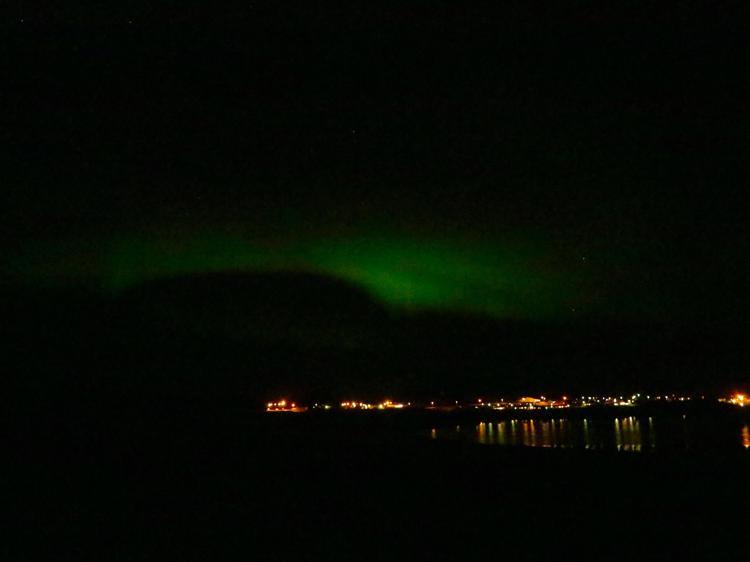 northern lights Westfjords iceland