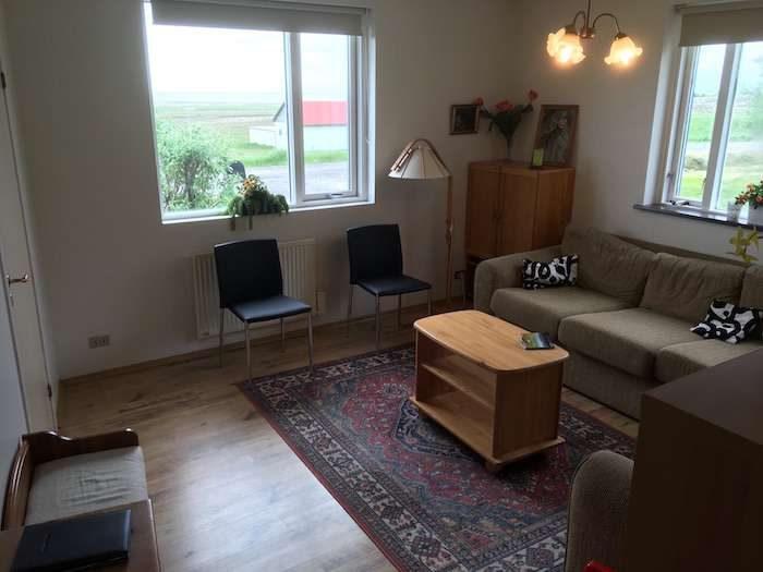Living-room-vesturhus guesthouse hof iceland