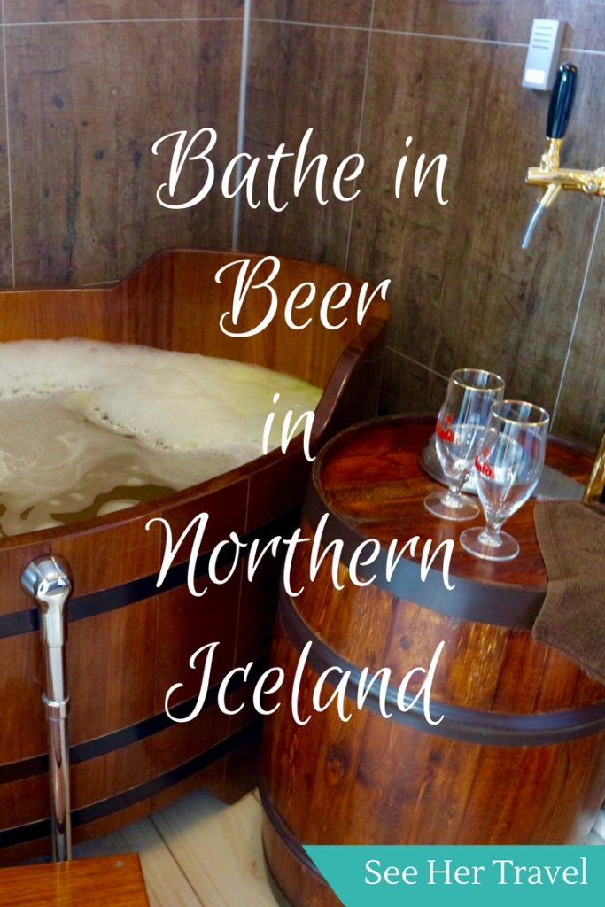 The Bjorbodin Beer Spa in Iceland is heaven and we have clearly died. Bathe in a wooden tub of beer while drinking beer? YES PLEASE!