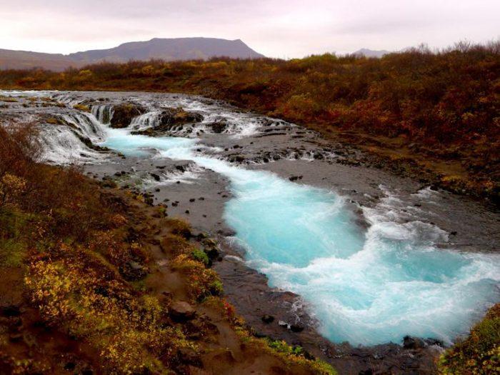 Bruarfoss waterfall south iceland hidden gems iceland