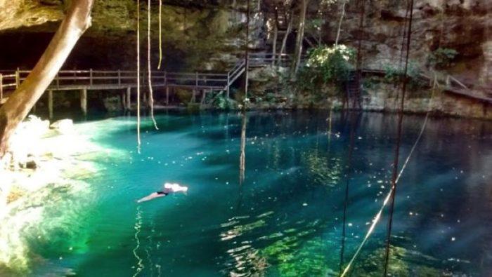x canche cenote mexico swimming best cenotes in yucatan
